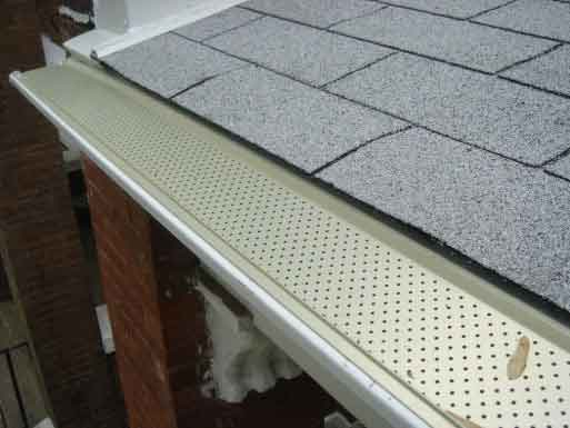 Gutter guards to protect the gutters from getting clogged with leaves, dirt, etc.