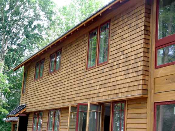 Wooden siding can make a house pop