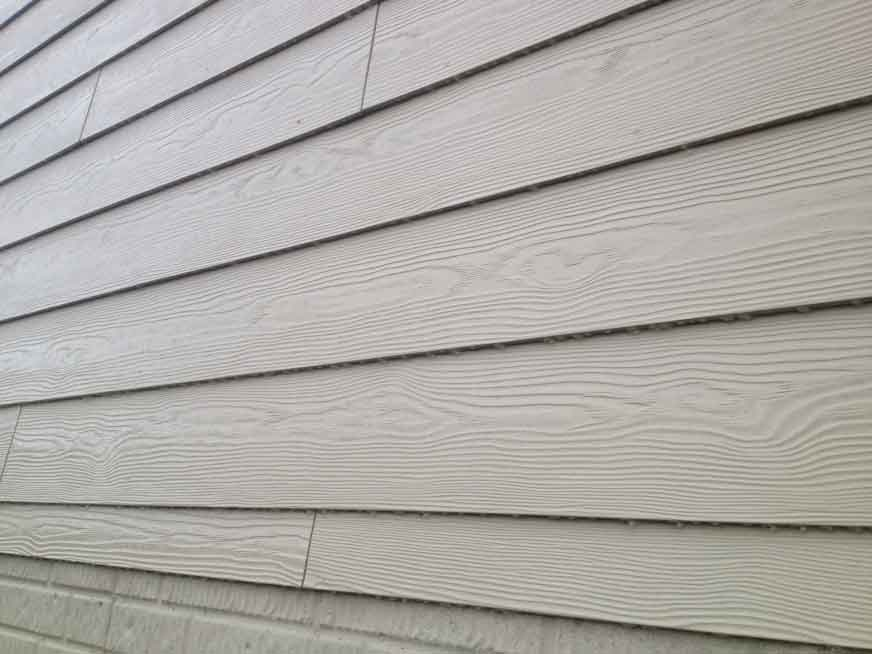 Some newer fiber cement siding (not very typical)