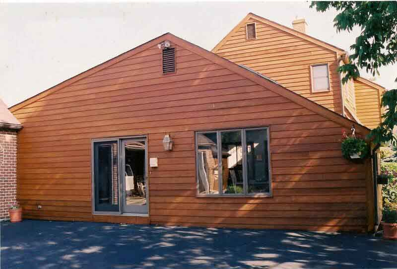 Cedar siding comes in various shades and colors
