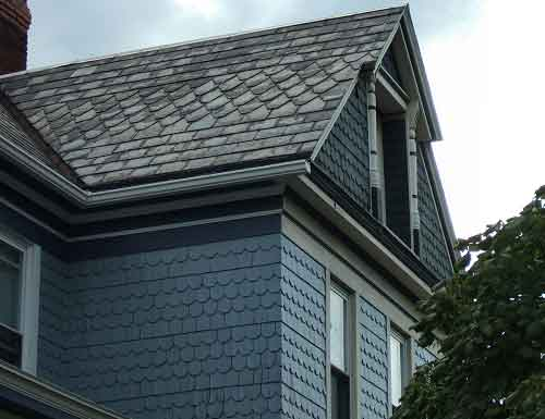 Slate siding is not commonly used anymore, but it could be...