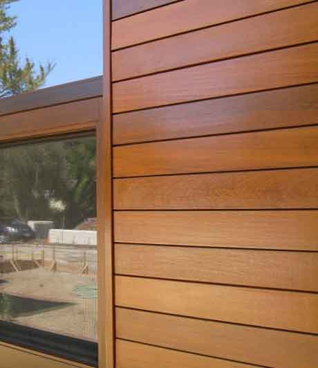 Really classy and nice wood siding