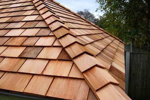 Picture of a cedar roof