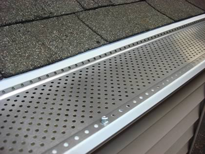 Picture of gutters with a gutter guard