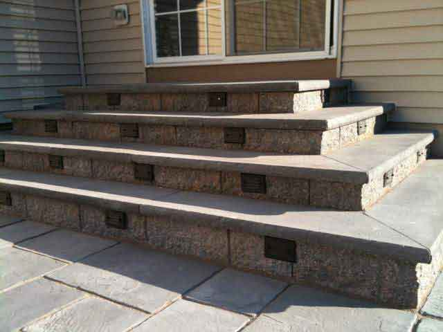 Picture of paver steps
